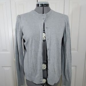 "J.CREW ""The Caryn"" Gray Cardigan Sweater Size M"